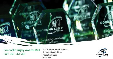Nominees announced for 2017/18 Connacht Rugby Awards