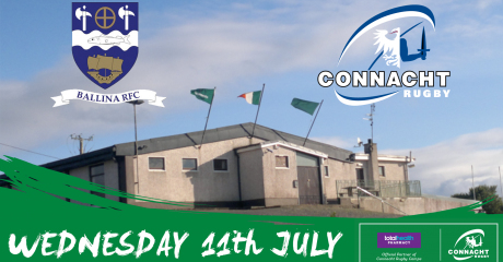 Connacht Rugby Squad to travel to Ballina for community visit