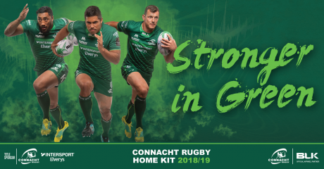 Connacht Rugby and BLK Sport Launch New Home Jersey