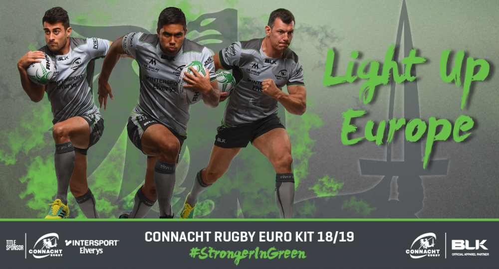 Connacht Rugby and BLK Sport Launch European Jersey 2018 19 6c062e47bf