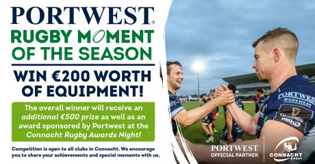 Connacht Rugby / Portwest Rugby Moment of the Season: Nominations Now Open