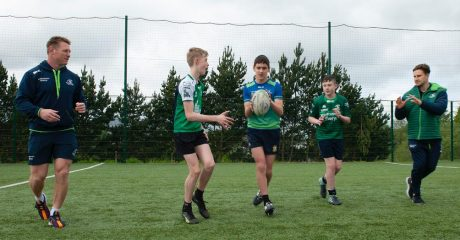 Connacht Rugby and Top Oil combine to inspire future rugby stars