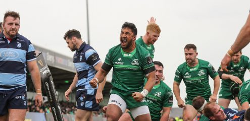 Bundee Aki to become latest Connacht centurion in Guinness PRO14 return against Ulster