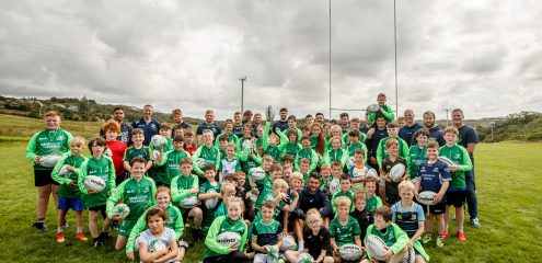 BEST PICS: Pro squad visit totalhealth Summer Camp at Connemara RFC