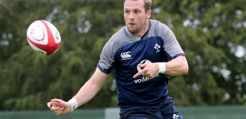 Carty set for first Ireland start alongside Marmion and Aki