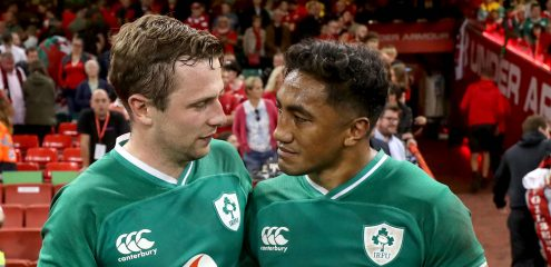 Bundee Aki and Jack Carty named in Rugby World Cup squad
