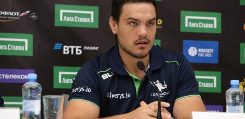Quinn Roux to captain Connacht against Russia in Moscow