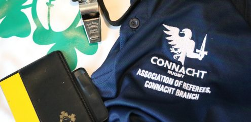 ARCB and Connacht Rugby holds two intro to refereeing courses