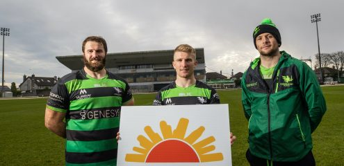 North West Hospice joins Galway Hospice and Mayo/Roscommon Hospice as Connacht Rugby Official Charity Partners
